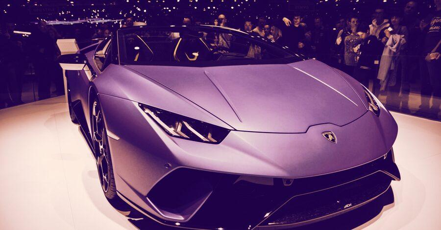 What? Lamborghini loves crypto?