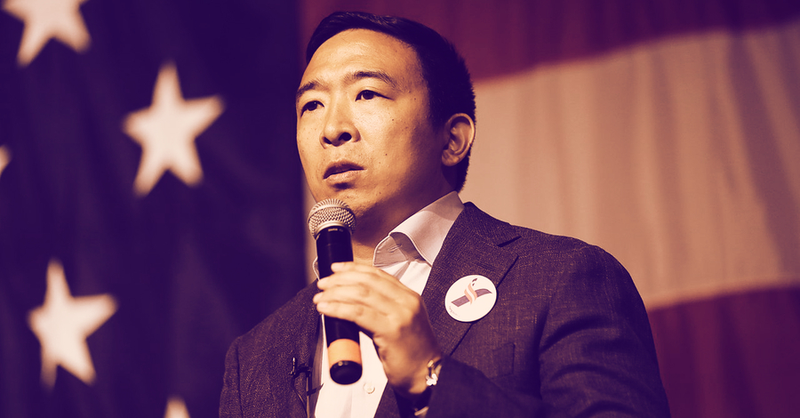 Presidential hopeful Andrew Yang: US government blind to technical aspects of crypto