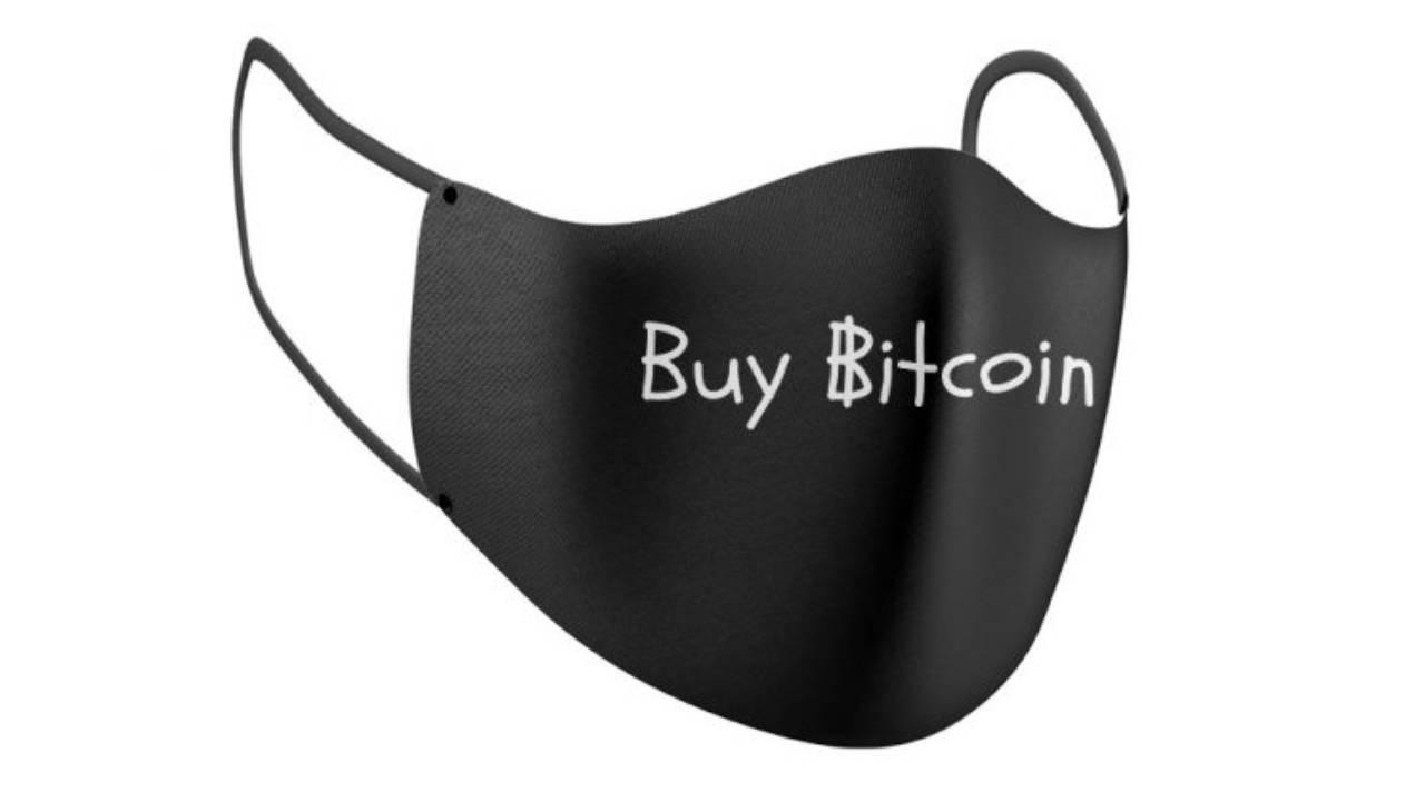 """Buy Bitcoin"" face mask"