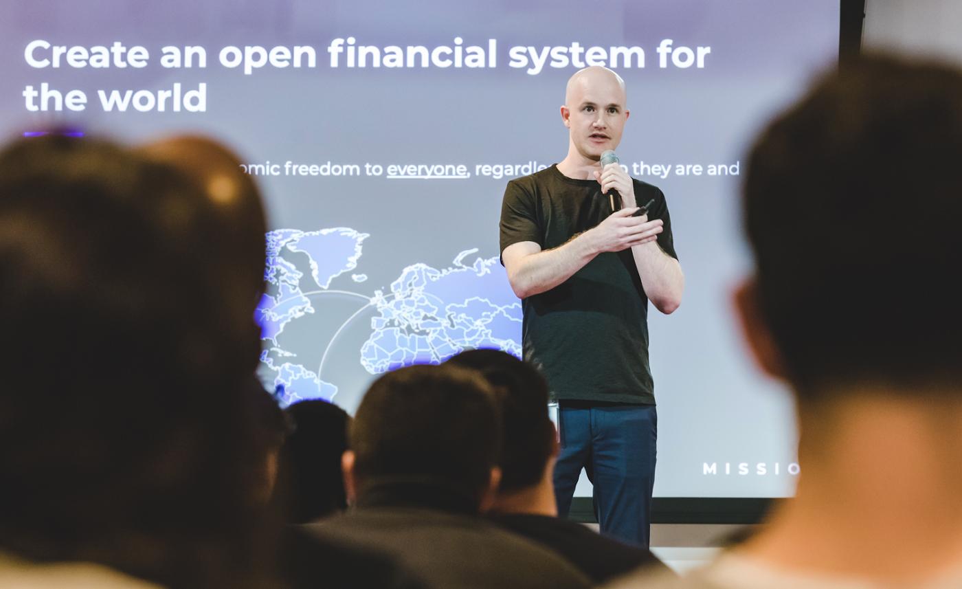Brian Armstrong coinbase CEO Bitcoin