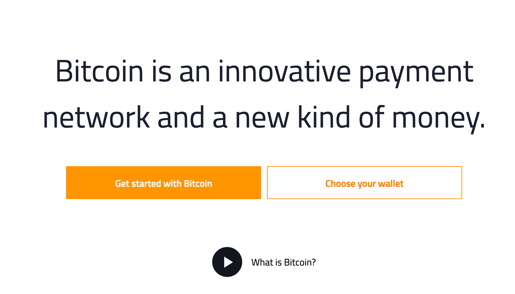 The Bitcoin.org website