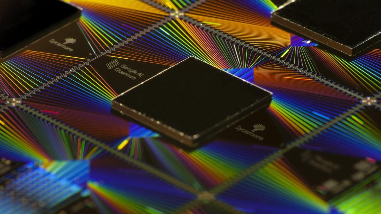 Google Sycamore quantum computer chip