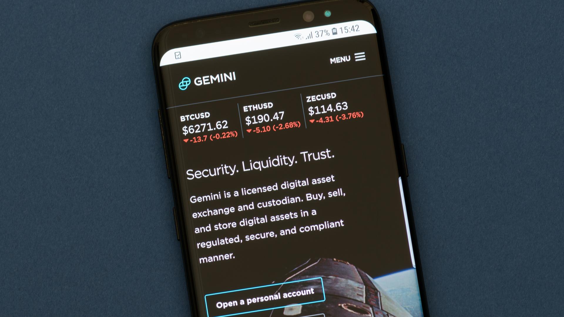 Samsung's blockchain wallet intragtes crypto exchange Gemini