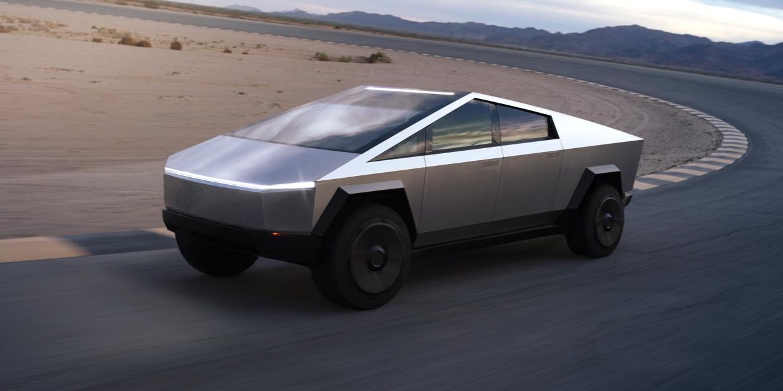 A Tesla Cybertruck