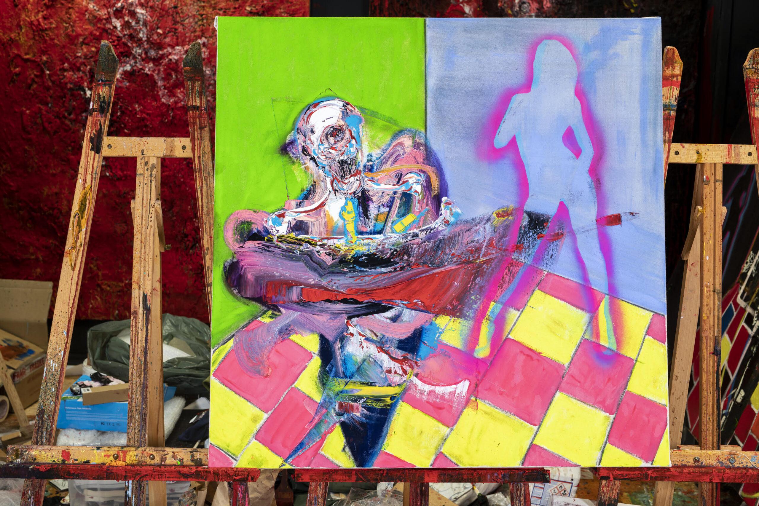 Studio of British artist Lincoln Townley