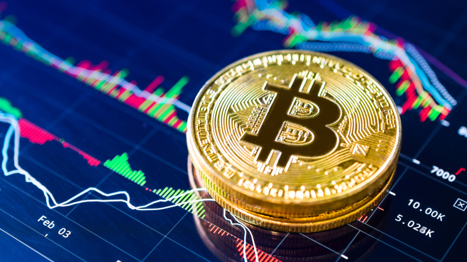 Bitcoin's price breaks up