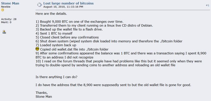 10 years ago, a man lost Bitcoin that's now worth $100 million