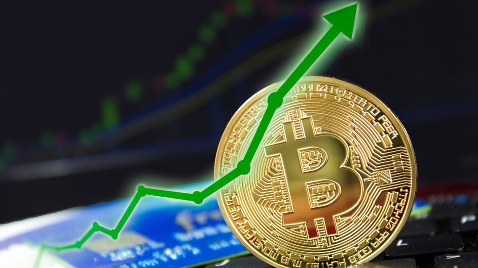 Bitcoin Price with Arrow