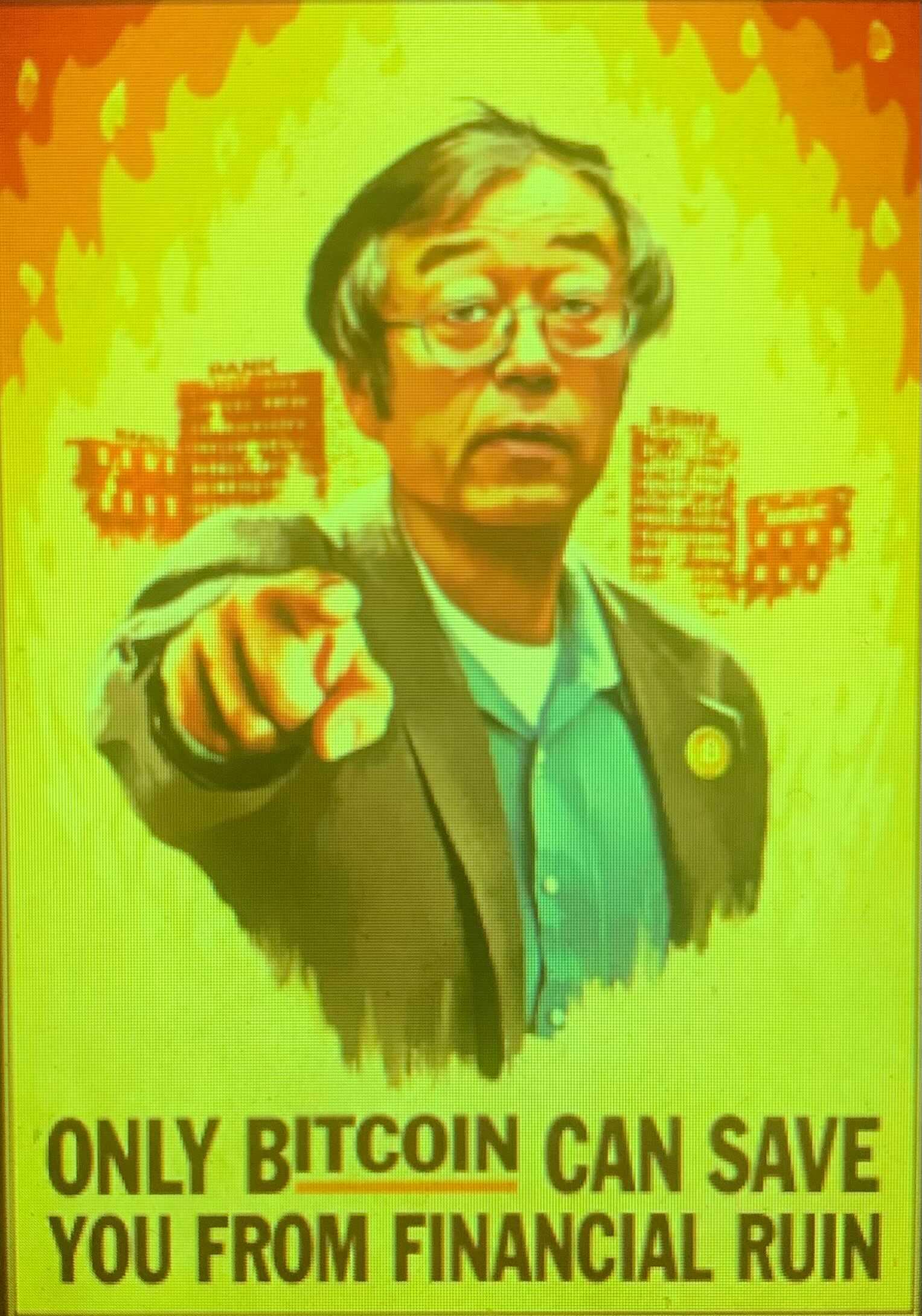A Satoshi poster
