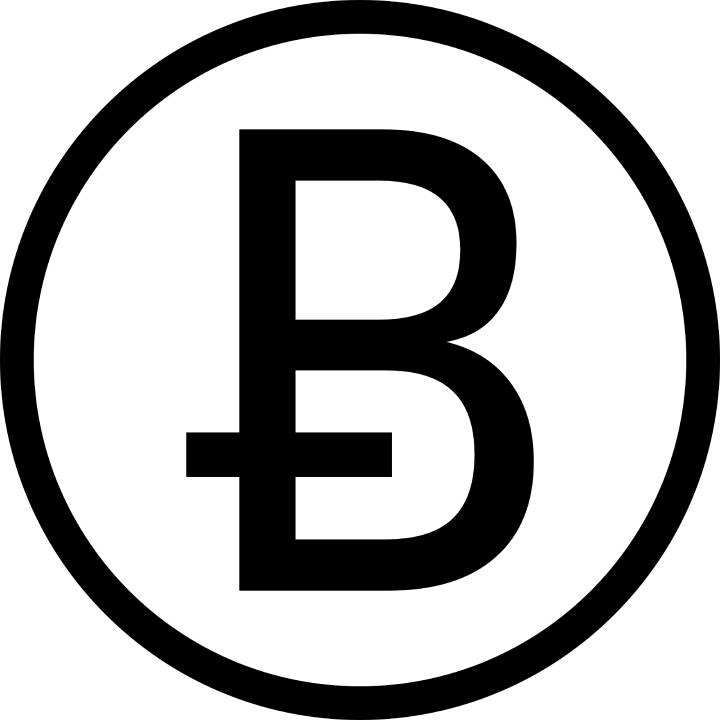The Bitcoin symbol