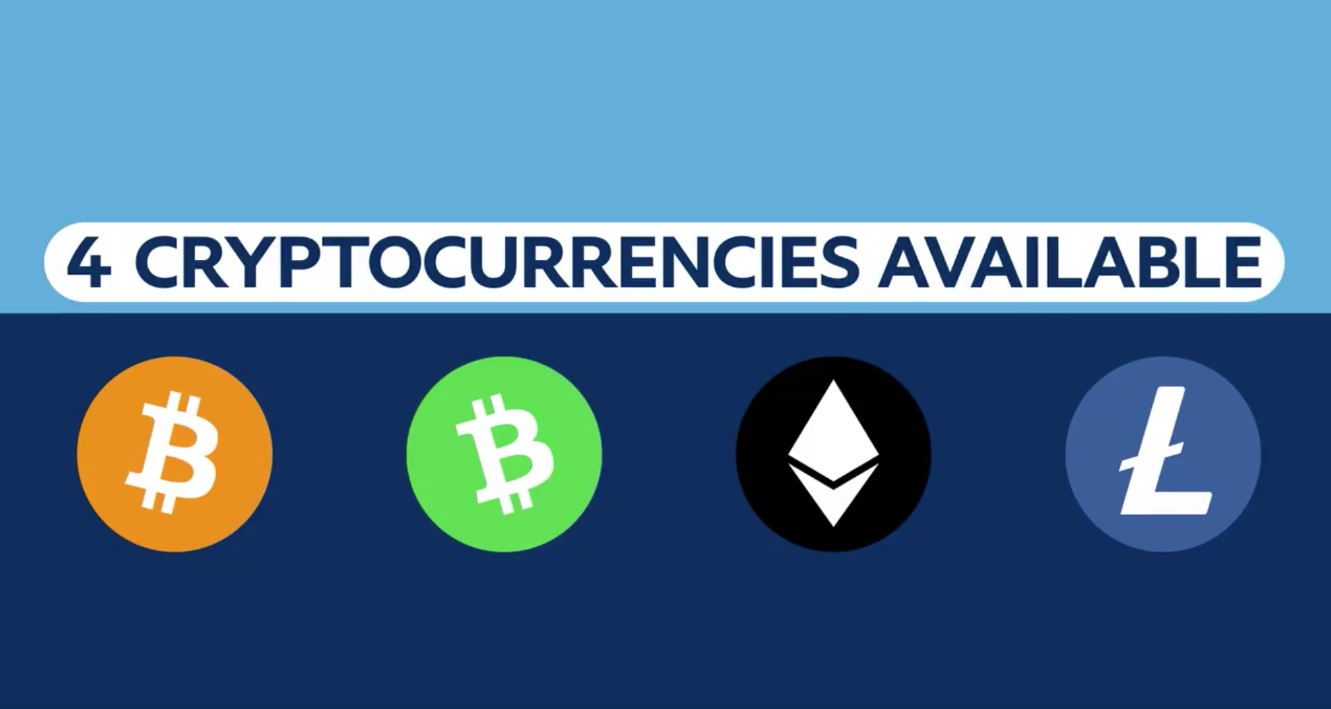cryptocurrencies lined up