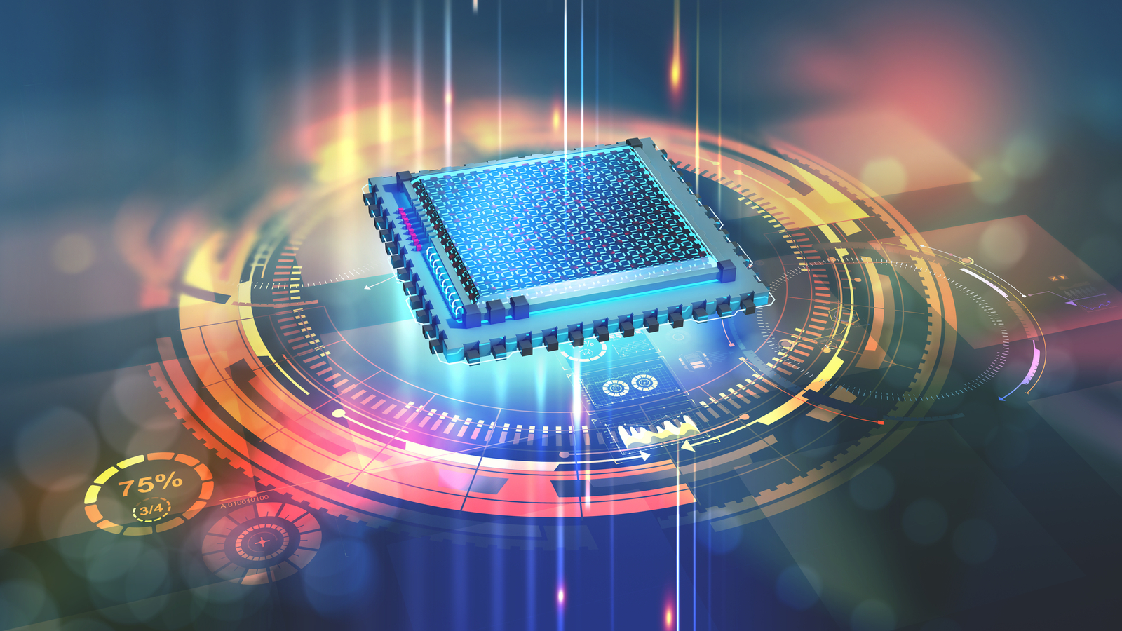 Quantum processor in the global computer network