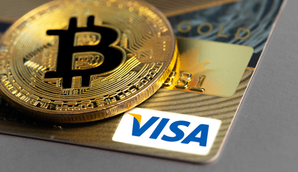 Visa card with Bitcoin