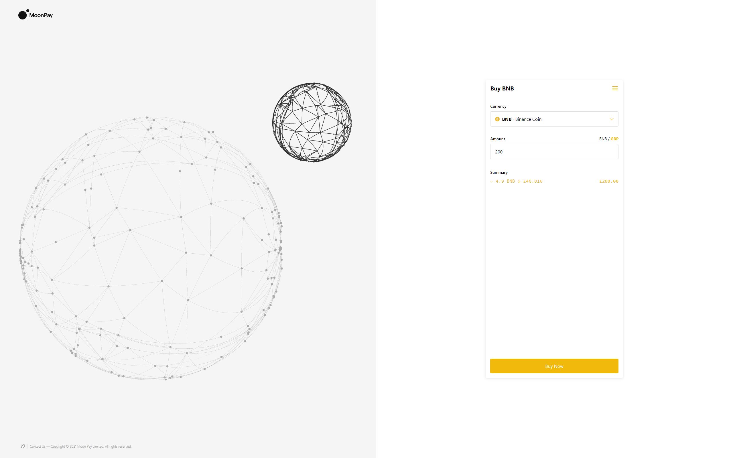 Binance DEX screenshot