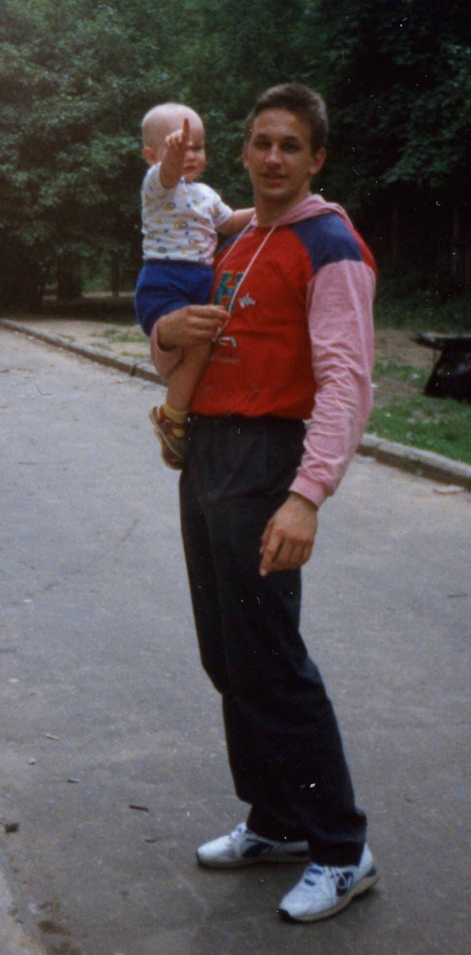 Vitalik as a toddler with his father.