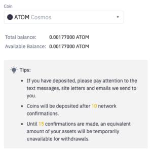 Buy ATOM