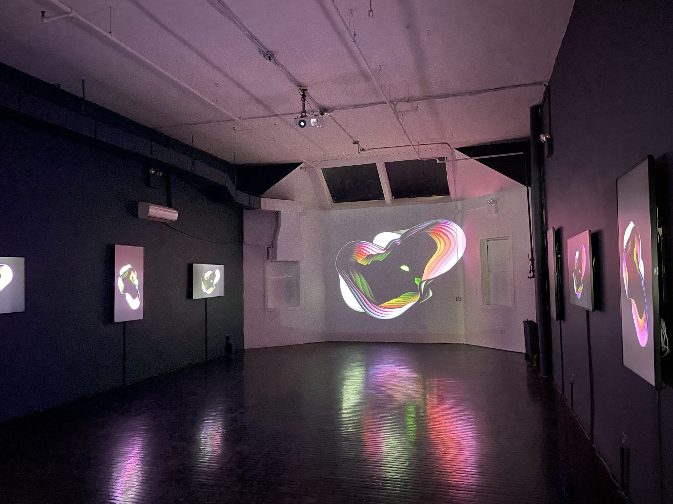 Inside the Superchief NFT Art gallery in New York. Image: Decrypt