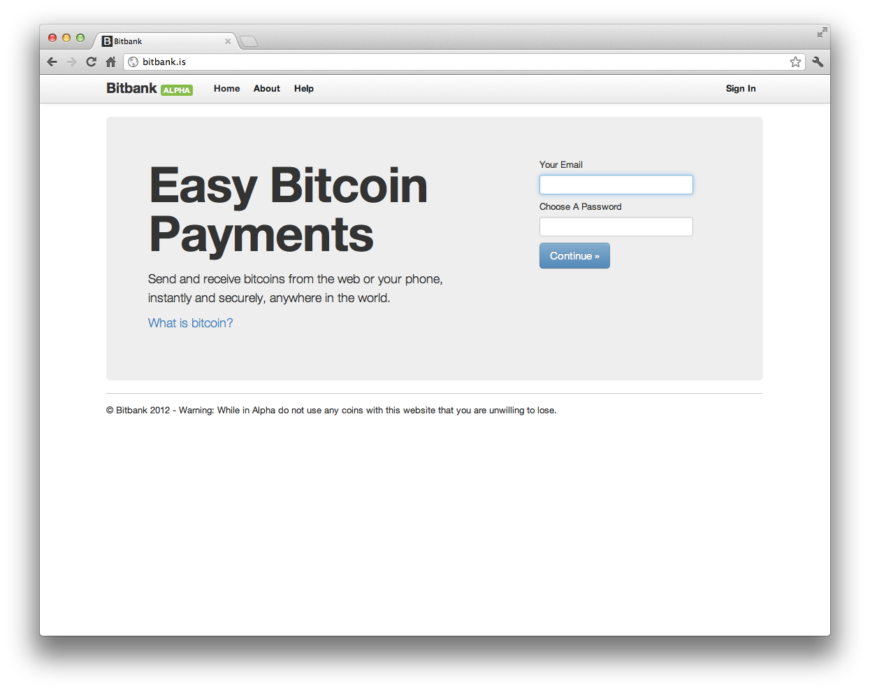 The early version of BitBank